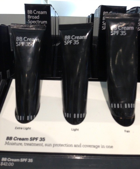 black, plastic tubes of 3 shades of Bobbi Brown BB Cream SPF 35, neversaydiebeauty.com