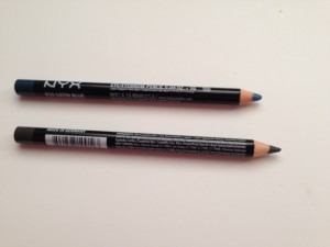 NYX eye pencils  top: Siren; bottom: Charcoal