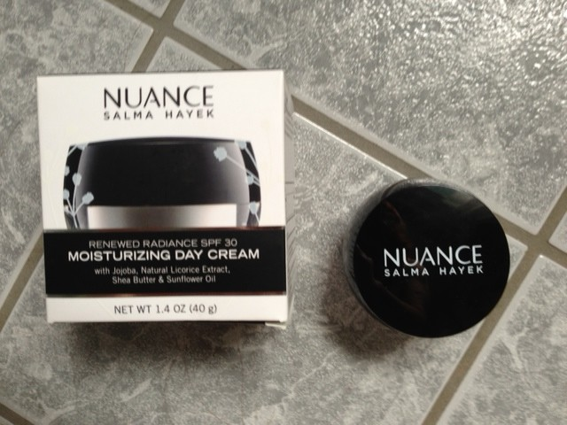 Salma Hayek Nuance Moisturing Day Cream, an affordable moisturizer at the drugstore neversaydiebeauty.com