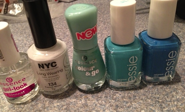 essence and essie nail polish