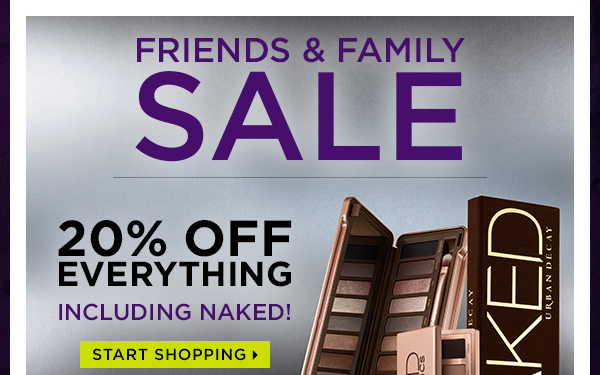 Urban Decay Friends & Family Sale Holiday 2013