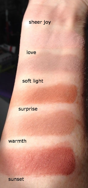 IT Cosmetics Naturally Pretty Matte Shadows, swatches
