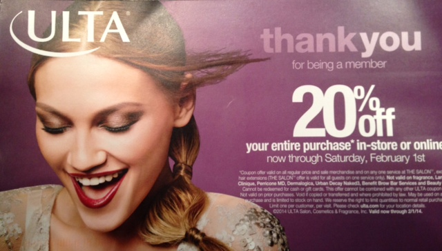 Ulta 20% off Thank You Promo