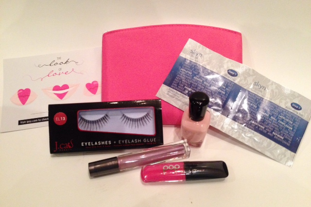 "ipsy ""Look of Love"" Glam Bag February 2014"