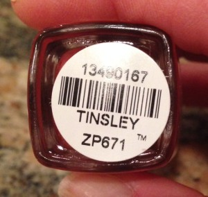 Zoya Professional Nail Lacquer, Tinsley