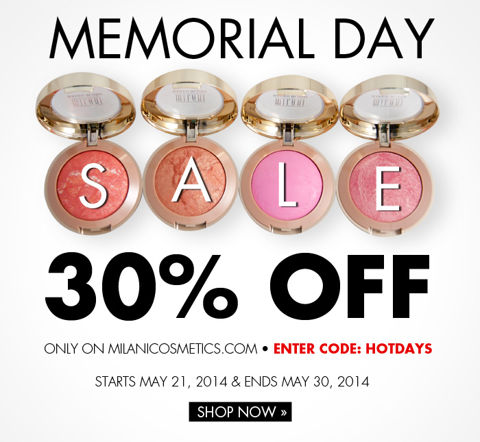 Milani Cosmetics Memorial Day Sale