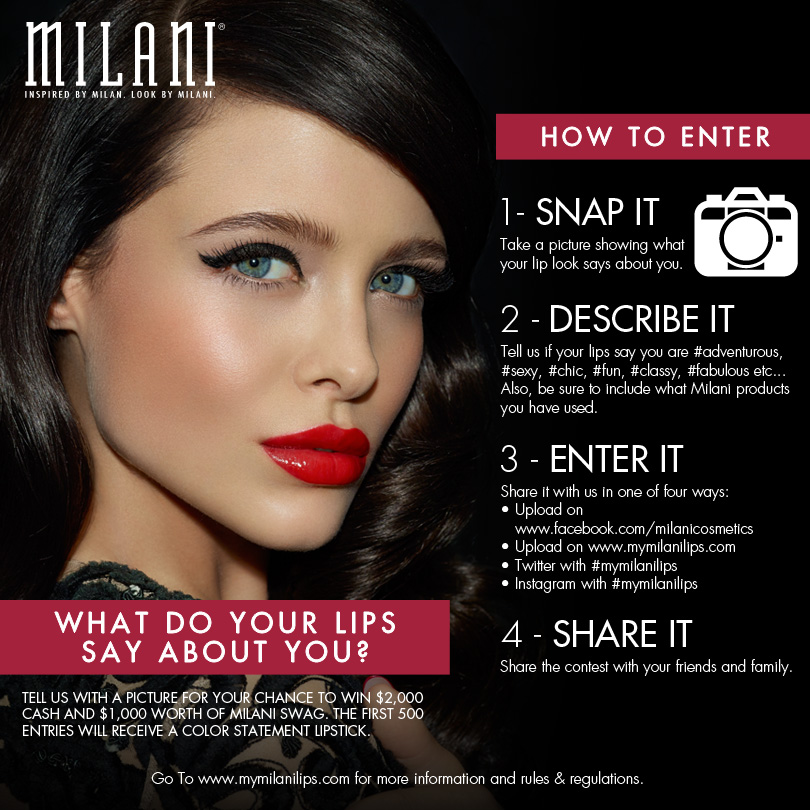 Milani Cosmetics Lips Contest