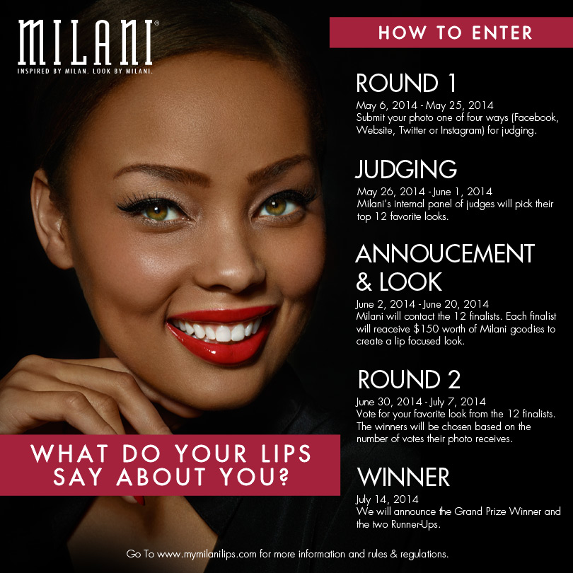 Milani Cosmetics Lips Contest