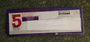 Bed Bath & Beyond coupon