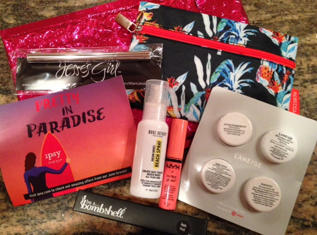 Pretty In Paradise ipsy glam bag, June 2014