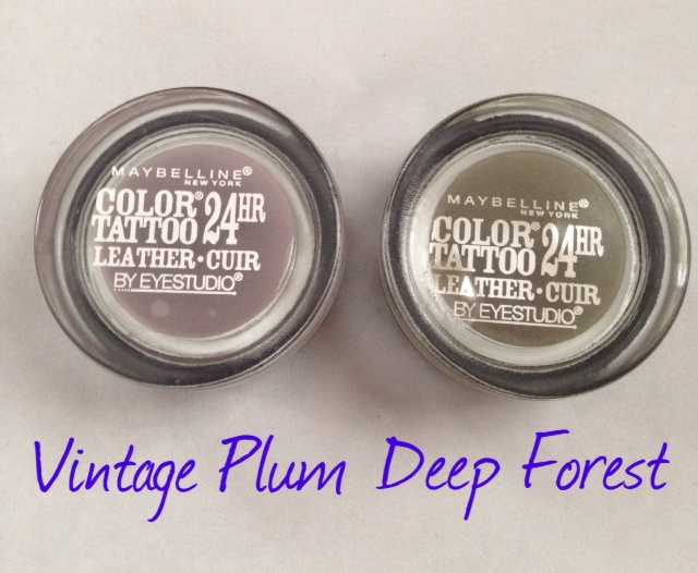 Maybelline Color Tattoo Cream Eyeshadow, Vintage Plum & Deep Forest