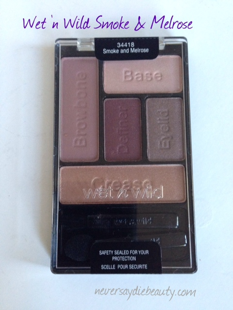 Wet 'n Wild Smoke and Melrose Limited Edition Eye Shadow Palette