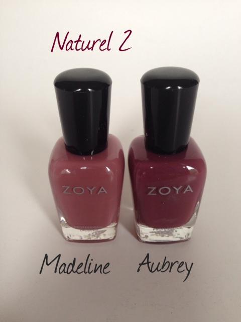 nail polish: Madeline, Aubrey