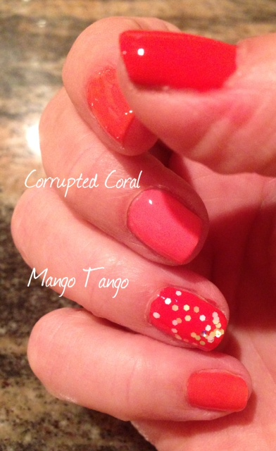 Milani Color Statement Nail Lacquer, Corrupted Coral, Mango Tango