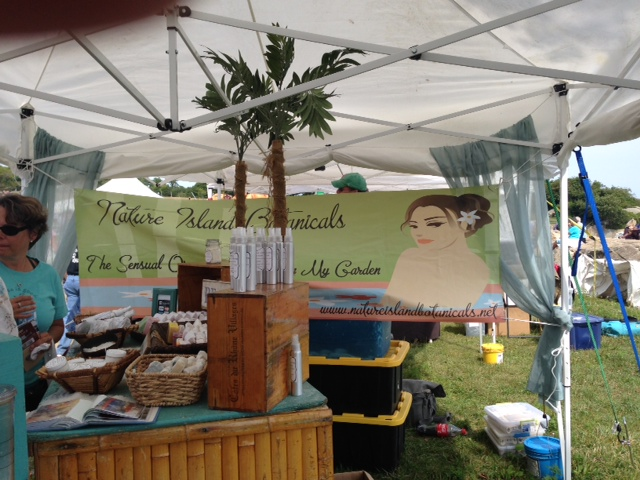 Nature Island Botanicals skincare products booth neversaydiebeauty.com