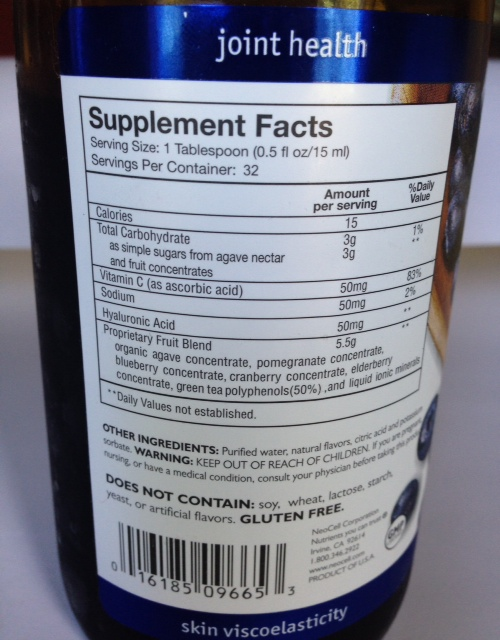 hyarluronic acid dietary supplement