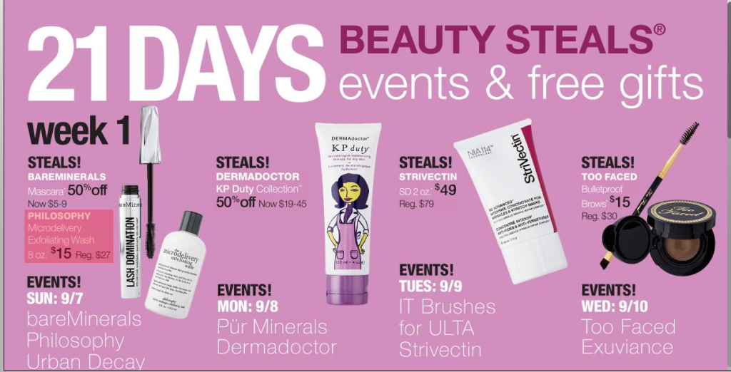 Ulta 21 Days of Beauty Sale Fall 2014