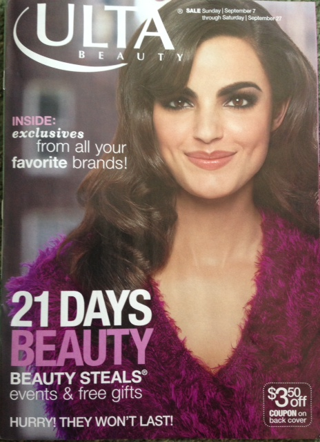 Ulta catalogue announcing 21 Days of Beauty sale event neversaydiebeauty.com @redAllison