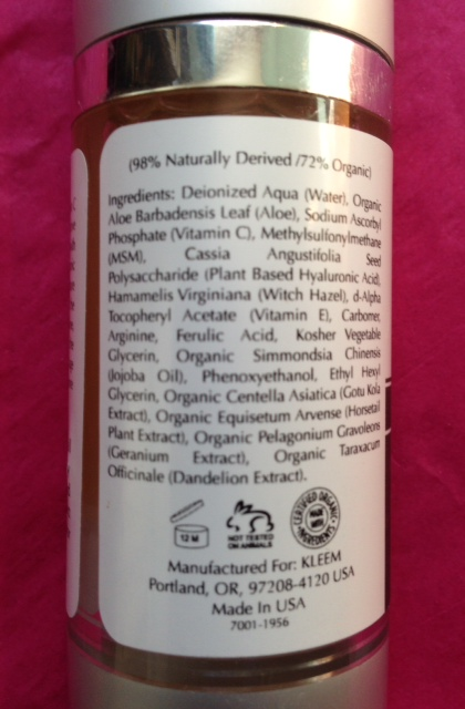 Kleem-VitaminC-ingredients