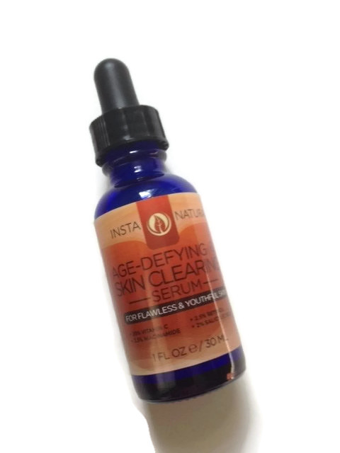 InstaNatural Age Defying Skin Clearing Serum facial serum neversaydiebeauty.com @redAllison