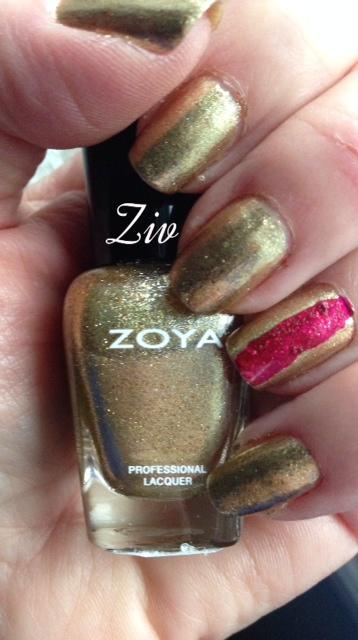 gold nail polish, nail lacquer