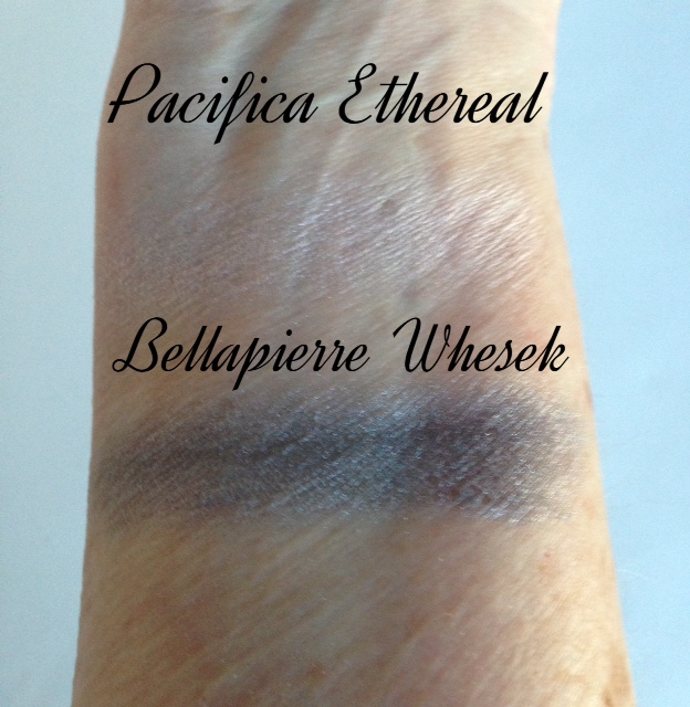 Pacifica Ethereal, Bellapierre Whesek eye shadows