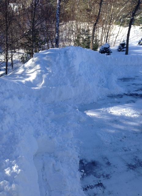 snow-banks