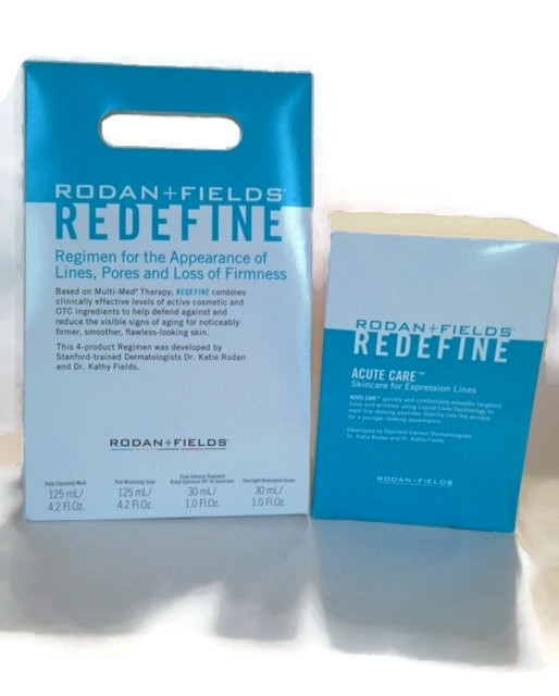 Redefine regimen and Acute Care skincare