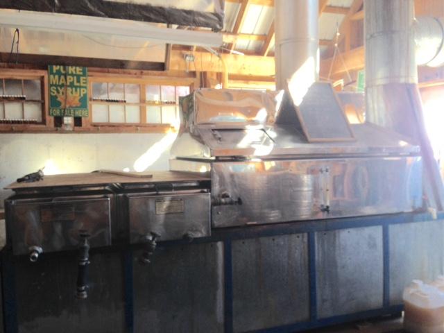 maple sugar shack processor, South Face Farm Ashfield MA