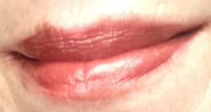 copper-colored lipgloss