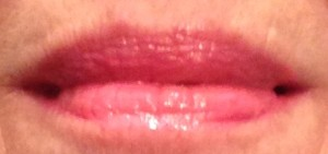 lips swatch, candy pink