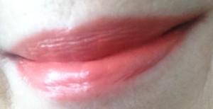 coral lipstick, spring lipstick, semi-sheer lipstick