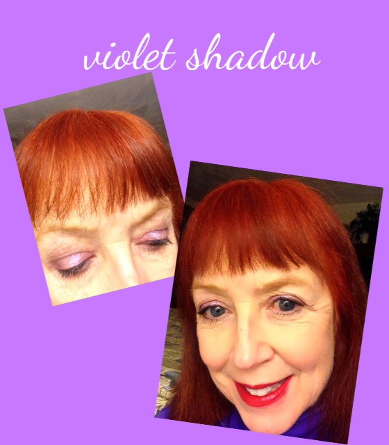violet shadow from Rome eyeshadow palette