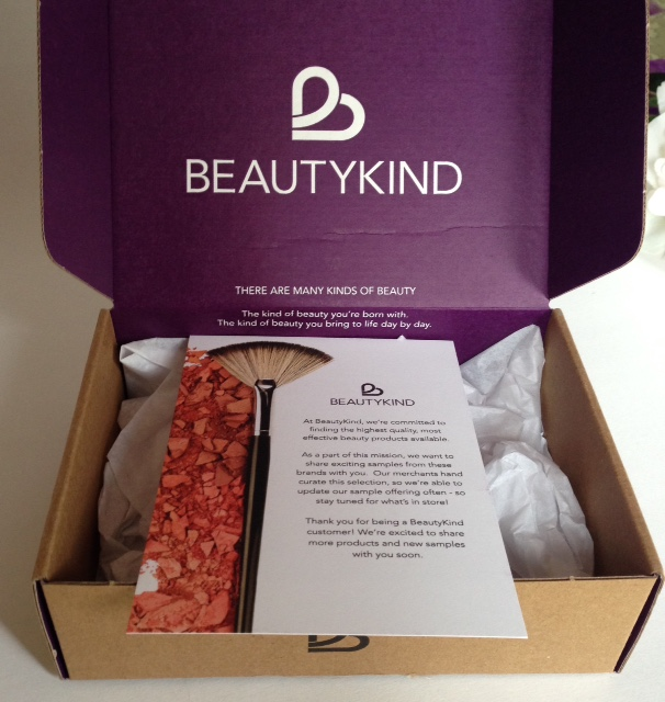 BeautyKind mailing box and materials