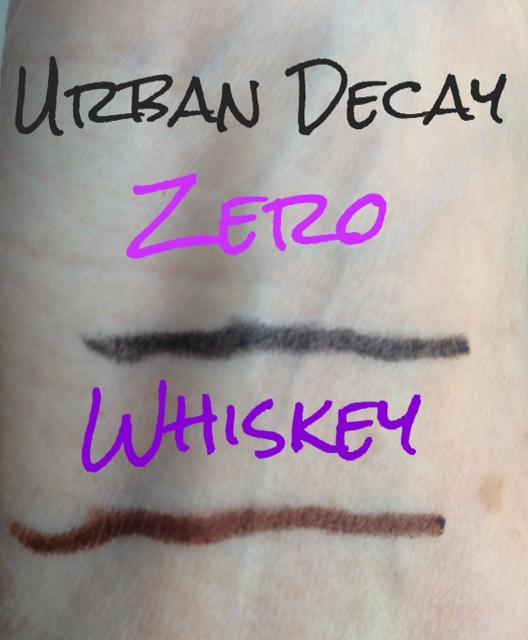 neutral eyeliner, eyeliner pencil, Urban Decay Zero and Whiskey eyeliner