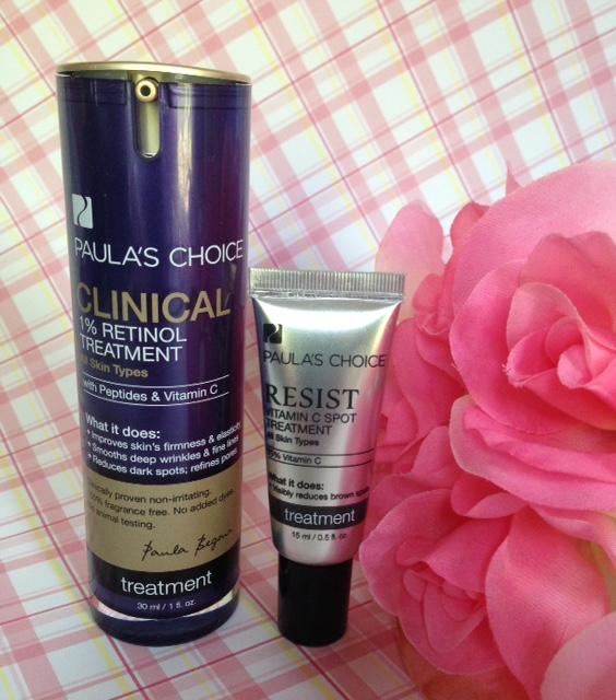 Paula's Choice Clinical 1% Retinol Treatment and Resist Vitamin C Spot Treatment