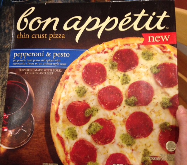 Bon Appetit Pepperoni & Pesto Pizza