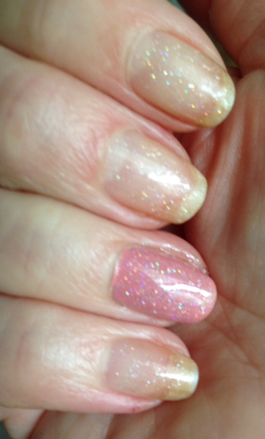 China Glaze Nail Lacquer glitter topper, Fairy Dust