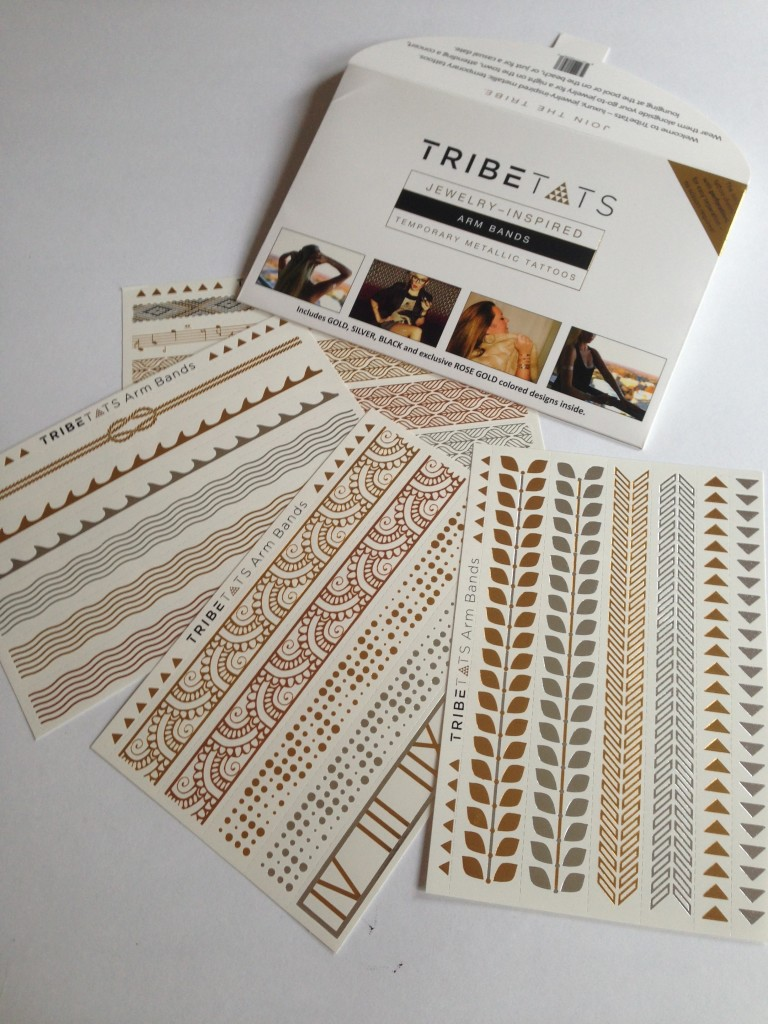 TribeTats Temporary Metallic Tattoos arm bands