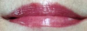 butterLONDON Bloody Brilliant Lip Crayon, Ruby Murray lip swatch