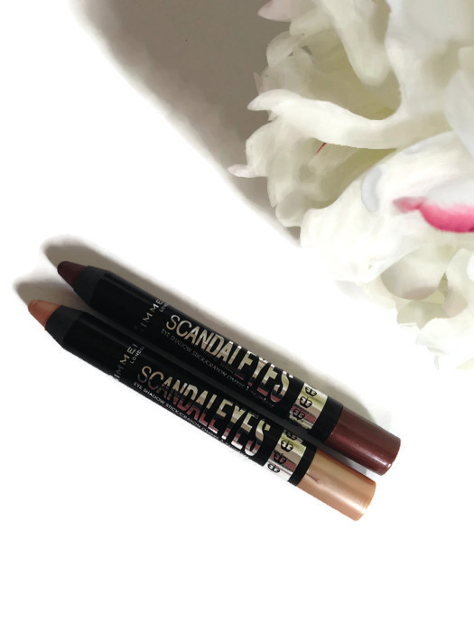 Rimmel Scandaleyes Eye Crayons Bad Girl Bronze, Bulletproof Beige