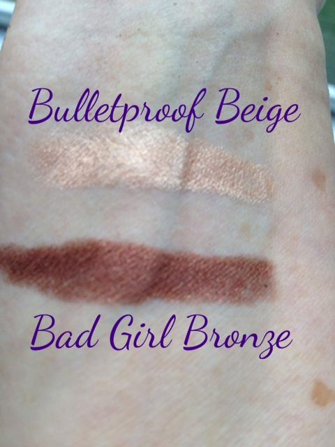 Rimmel Scandaleyes Bulletproof Beige & Bad Girl Bronze swatches