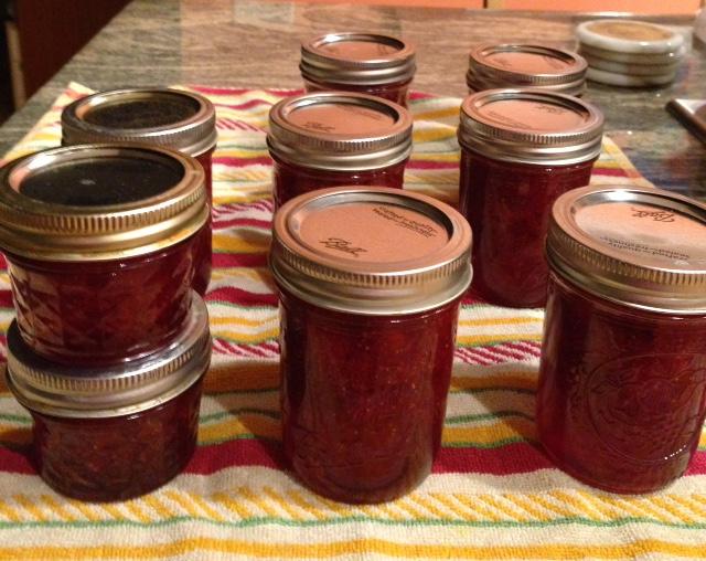 finished-strawberry-jam-jars