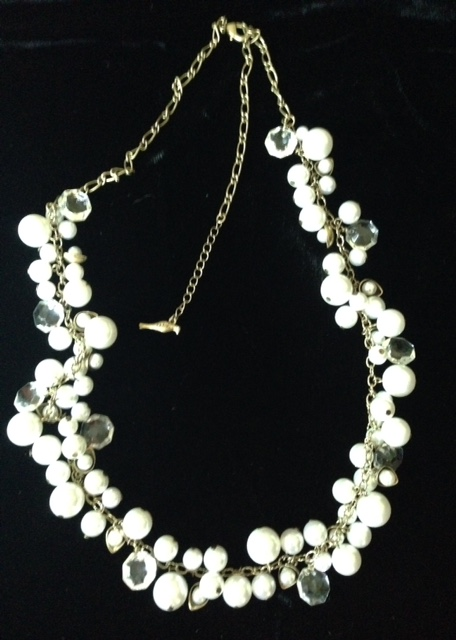 Chloe + Isabel Pearl Crystal Long Necklace
