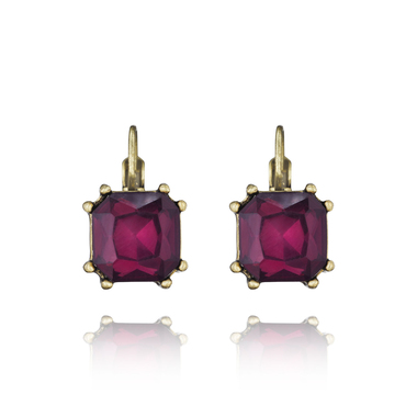 Chloe + Isabel Color Code Plum Drop Earrings