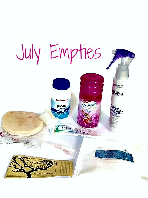 empty cosmetic products