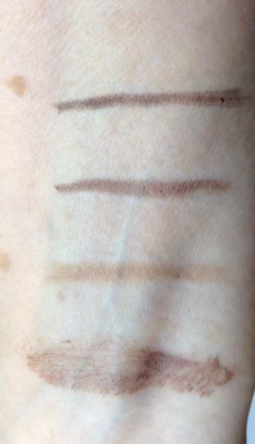 Mirabella The Brow Pencils, swatches