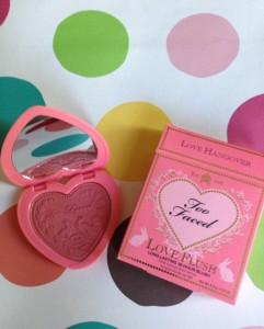 Too Faced Love Flush Blush, Love Hangover shade