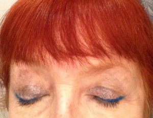 Jordana Cat Eyeliner in Twilight, Milani Fierce Foil Eyeshine Venice palette