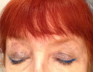 Jordana Cat Eyeliner in Twilight, Milani Fierce Foil Eyeshine Venice palette